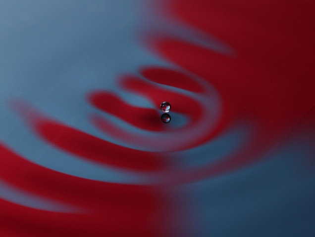 Bouncing droplet